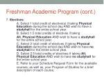 freshman academic program cont1