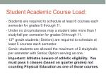 student academic course load