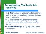consolidating workbook data continued