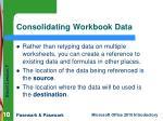 consolidating workbook data