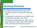 identifying worksheets