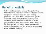 benefit shortfalls