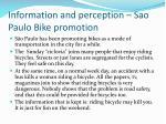 information and perception sao paulo bike promotion