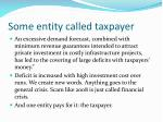 some entity called taxpayer