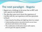 the next paradigm bogota