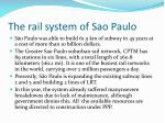 the rail system of sao paulo