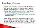 residency status