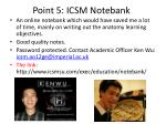 point 5 icsm notebank