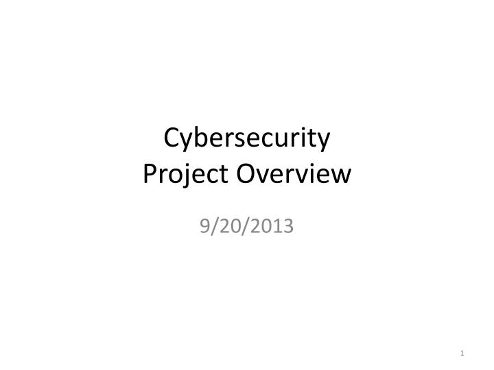 cybersecurity project overview n.