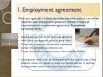 1 employment agreement