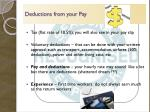 deductions from your pay