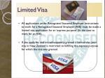 limited visa