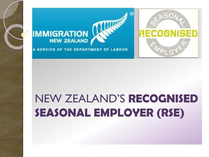 new zealand s recognised seasonal employer rse n.