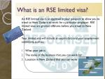 what is an rse limited visa