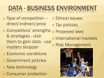 data business environment