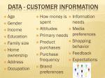 data customer information