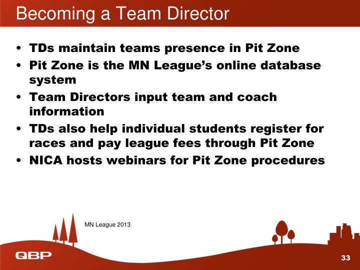 Becoming a Team Director