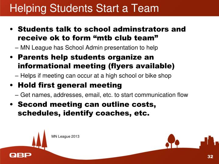 Helping Students Start a Team