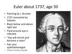 euler about 1737 age 30