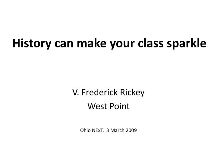 history can make your class sparkle n.