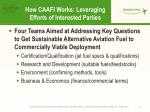 how caafi works leveraging efforts of interested parties