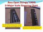 bass open strings eadg d major scale fingering chart