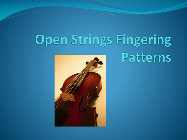 open strings fingering patterns n.