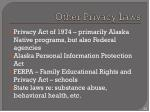 other privacy laws