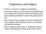 forgiveness and religion