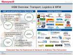 hsm overview transport logistics wfm