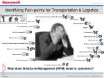 identifying pain points for transportation logistics