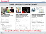 trends service level differentiation