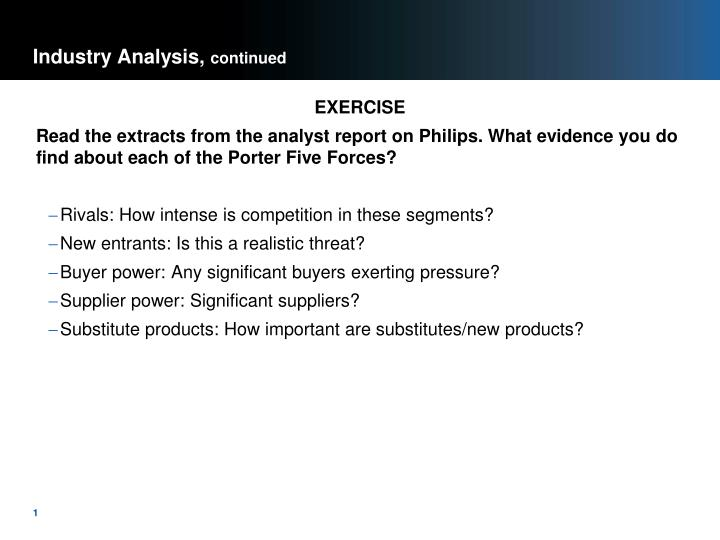 industry analysis continued n.