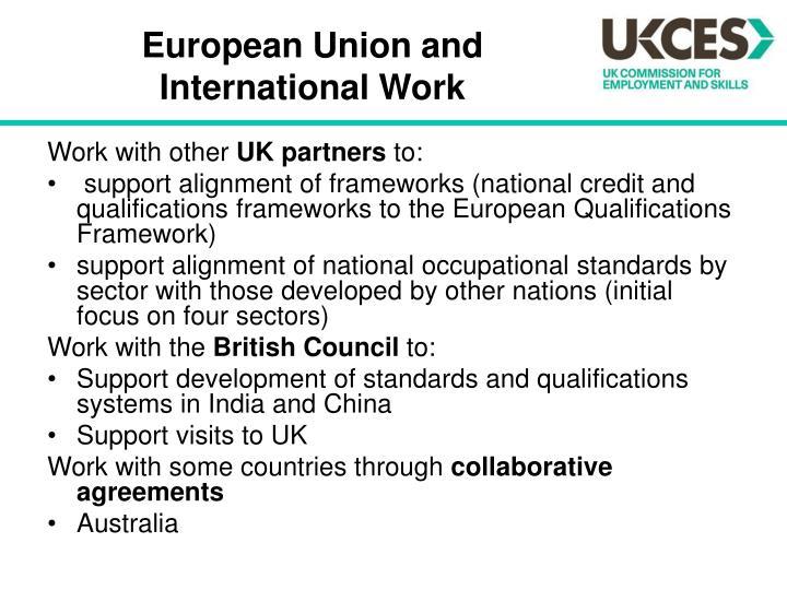 European Union and International Work
