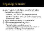 illegal agreements