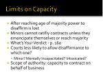 limits on capacity