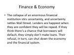 finance economy