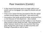 poor investors contd