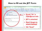 how to fill out the jet form15