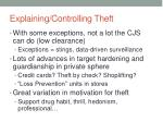 explaining controlling theft