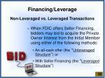 financing leverage