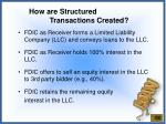 how are structured transactions created