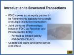 introduction to structured transactions