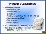 investor due diligence
