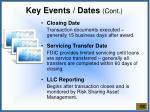 key events dates cont1