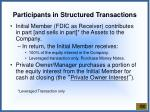 participants in structured transactions