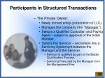 participants in structured transactions1