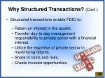 why structured transactions cont