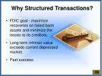 why structured transactions