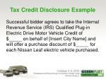 tax credit disclosure example